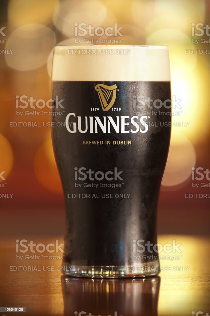 Pint of Guinness. stock photo