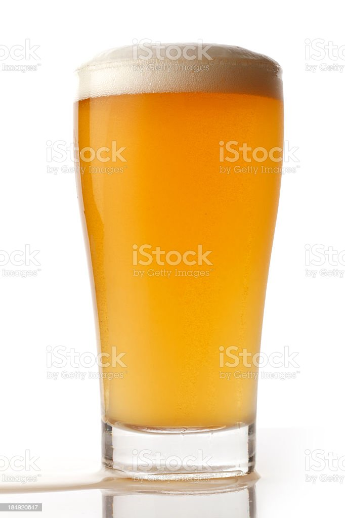 Pint of Pale Ale Beer stock photo