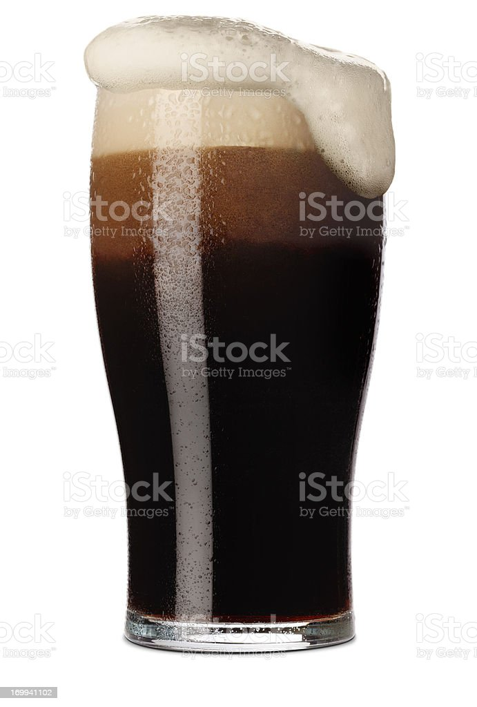 Pint of Stout stock photo