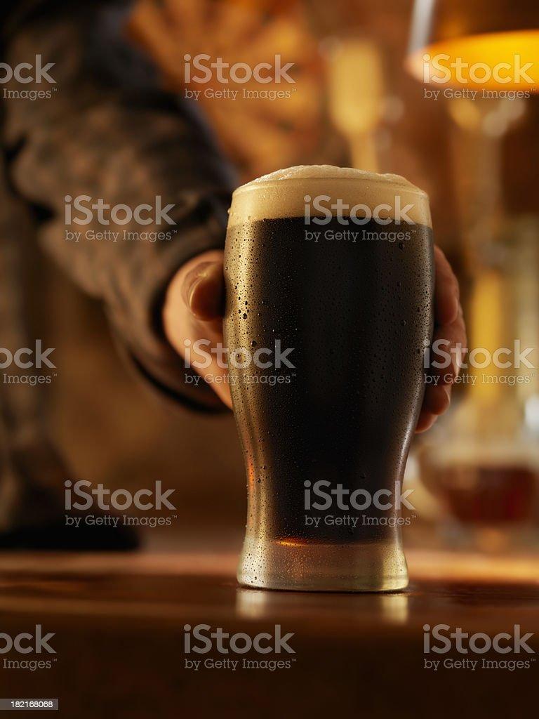 Pint of Stout stock photo