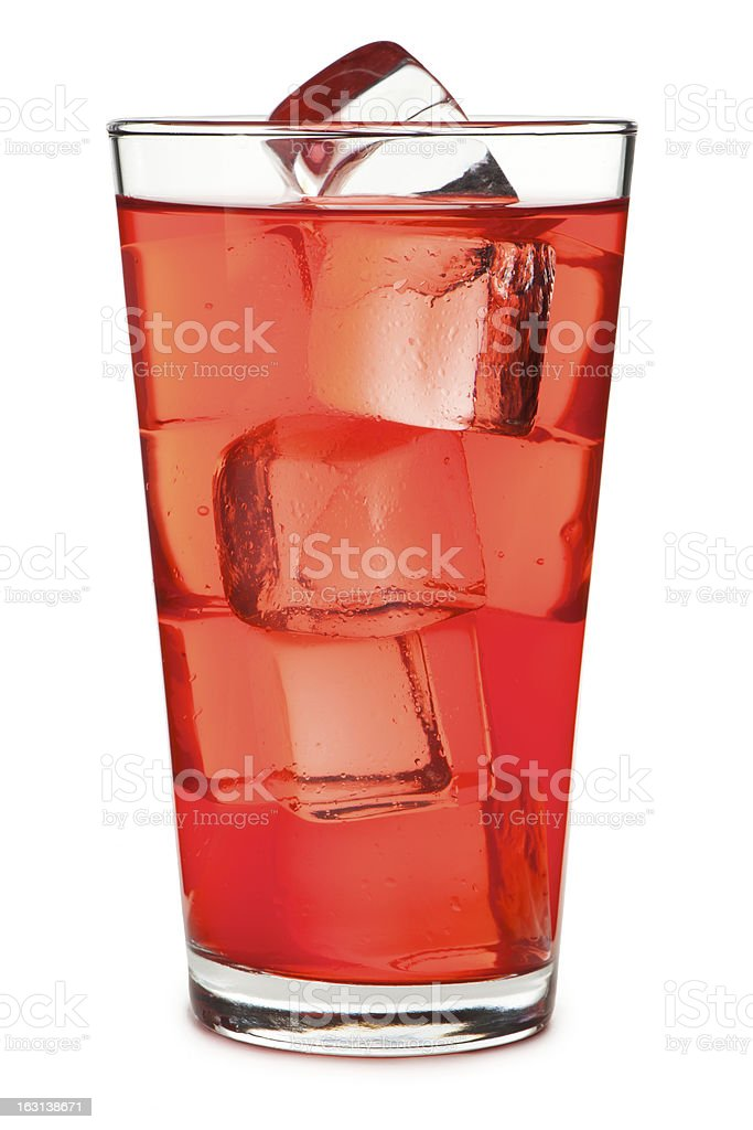 Pint Soda Pop Glass Isolated on White Background royalty-free stock photo