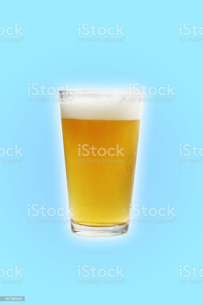 Pint with path stock photo