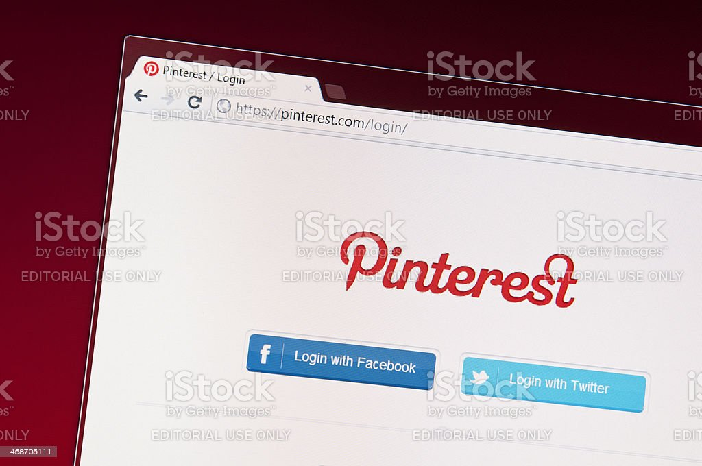 Pinterest Homepage stock photo