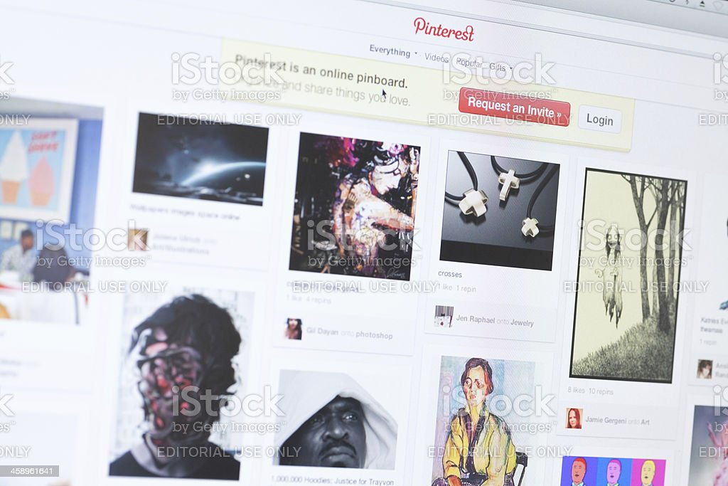 Pinterest Homepage royalty-free stock photo