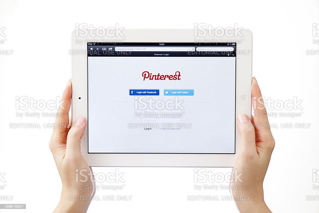 Pinterest login stock photo
