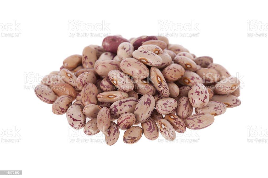Pinto beans isolated on white stock photo