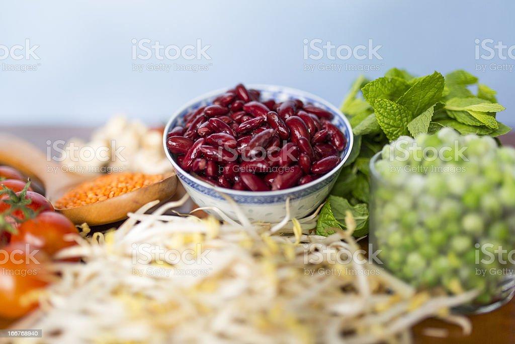 Pinto Beans (Frijoles) royalty-free stock photo