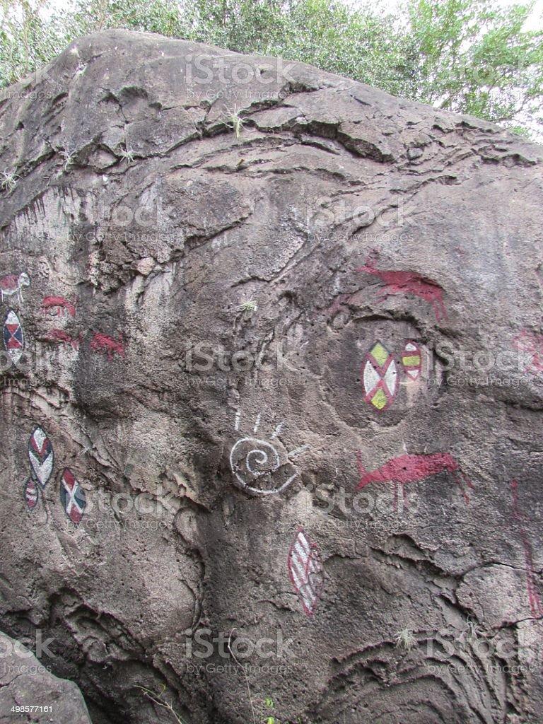 Pintura rupestre stock photo