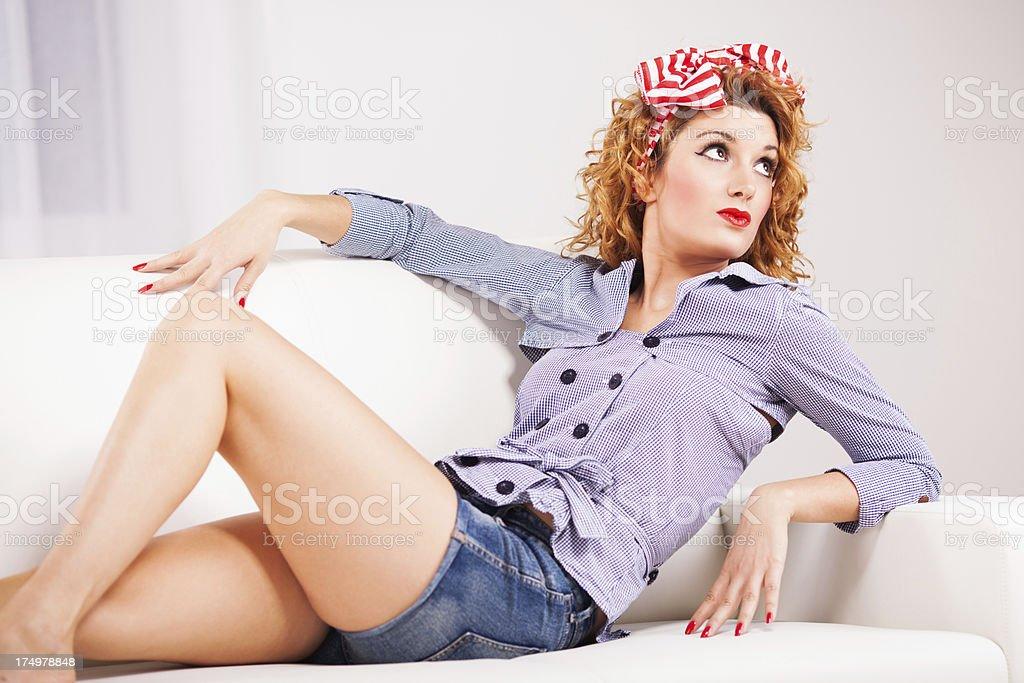 Pin-Up Girl royalty-free stock photo