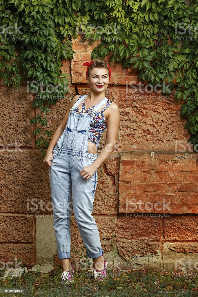 Pin-up girl royalty-free stock photo