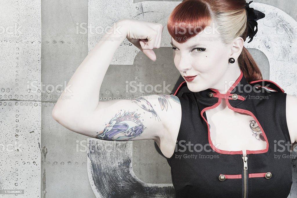 pin-up girl power royalty-free stock photo