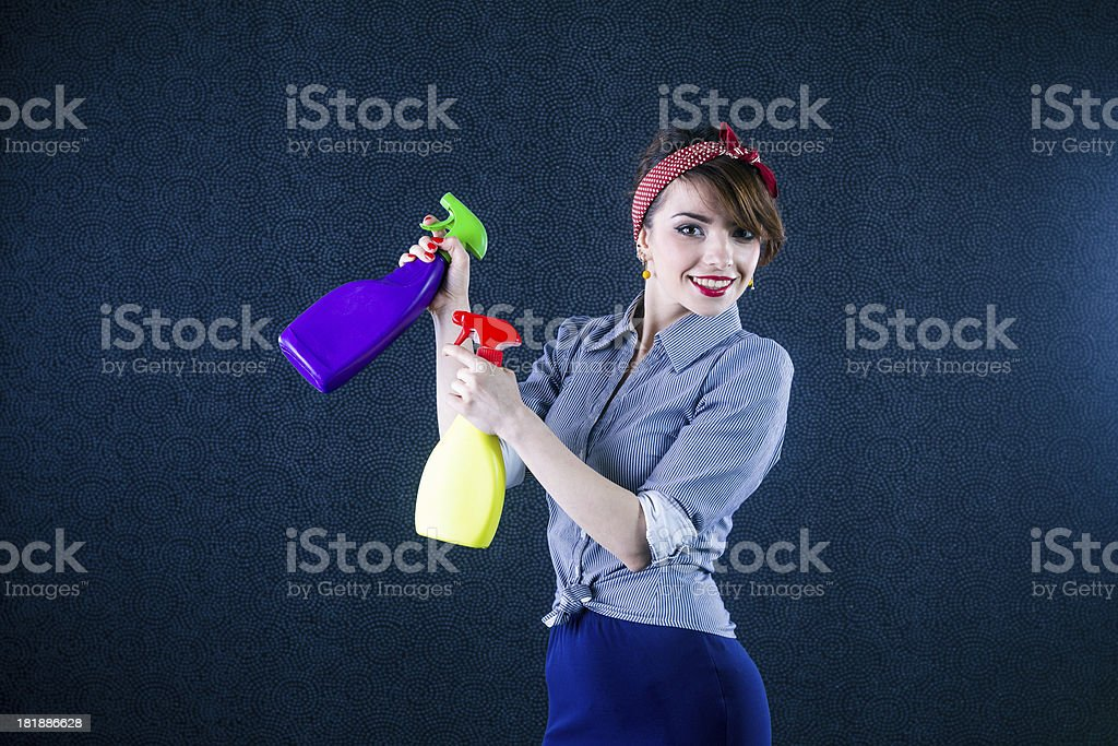 Pin-up housewife royalty-free stock photo