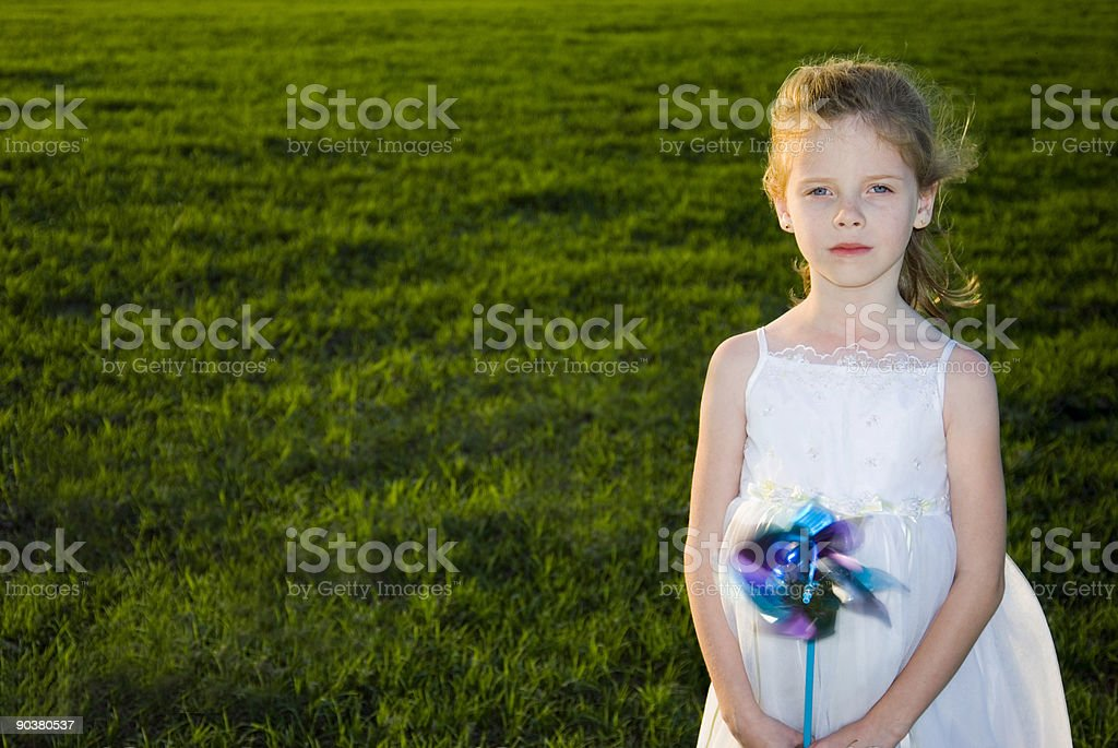Windrad Mädchen Lizenzfreies stock-foto