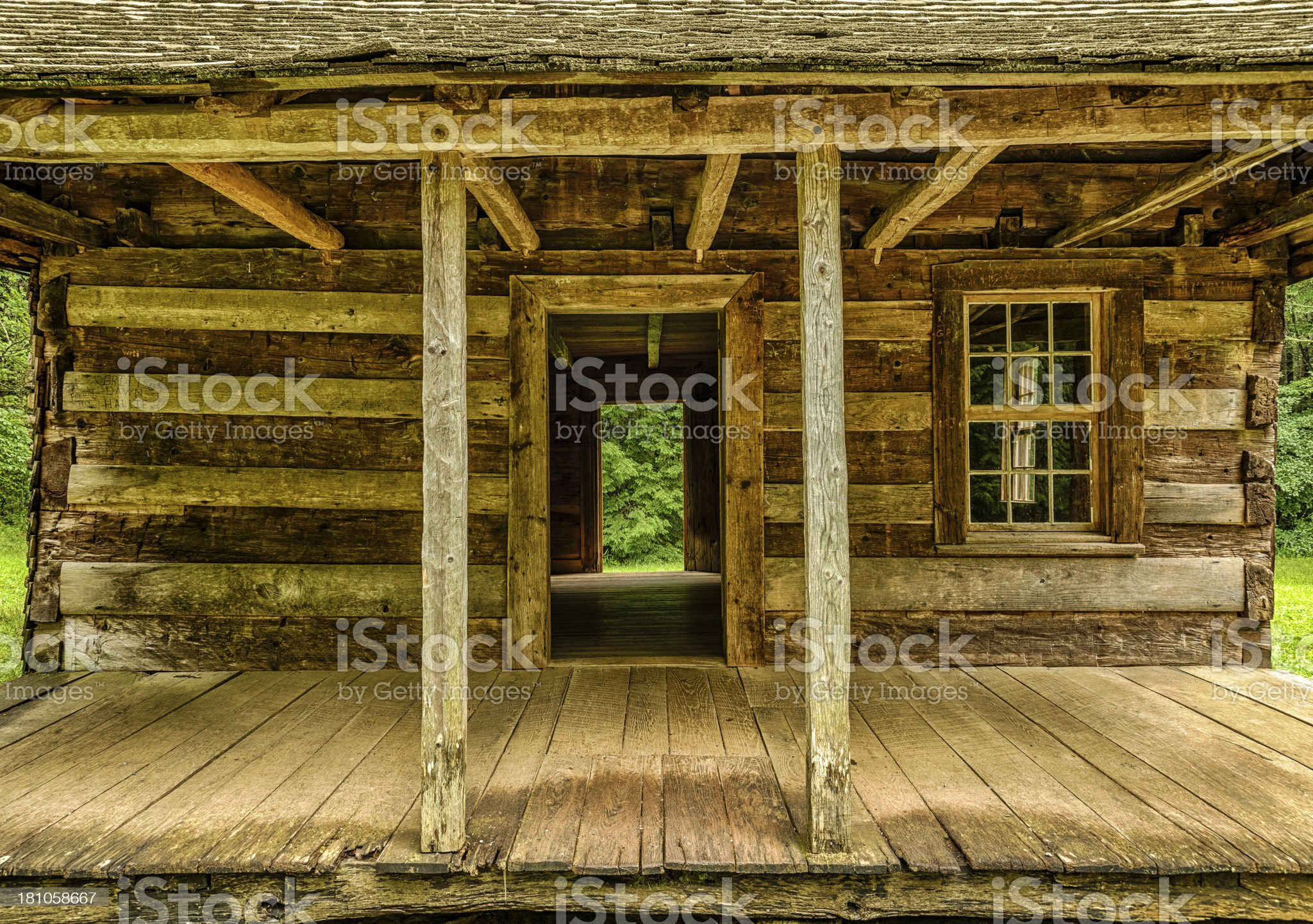 Pioneer Cabin Architecture royalty-free stock photo