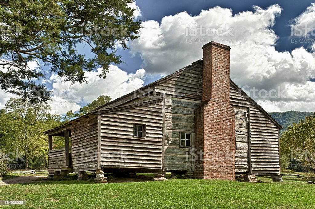 Pioneer Cabin In Great Smoky Mountains National Park royalty-free stock photo