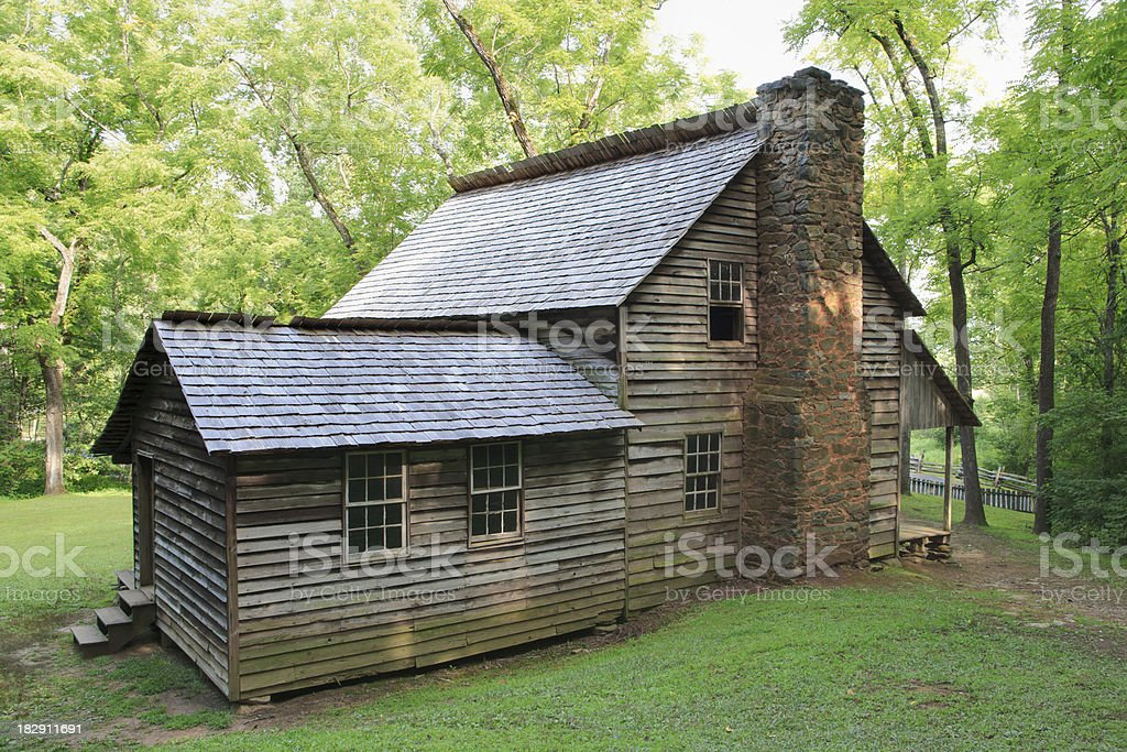 Pioneer Cabin in the Smoky Mountains royalty-free stock photo