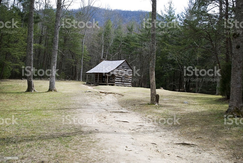 Pioneer cabin royalty-free stock photo