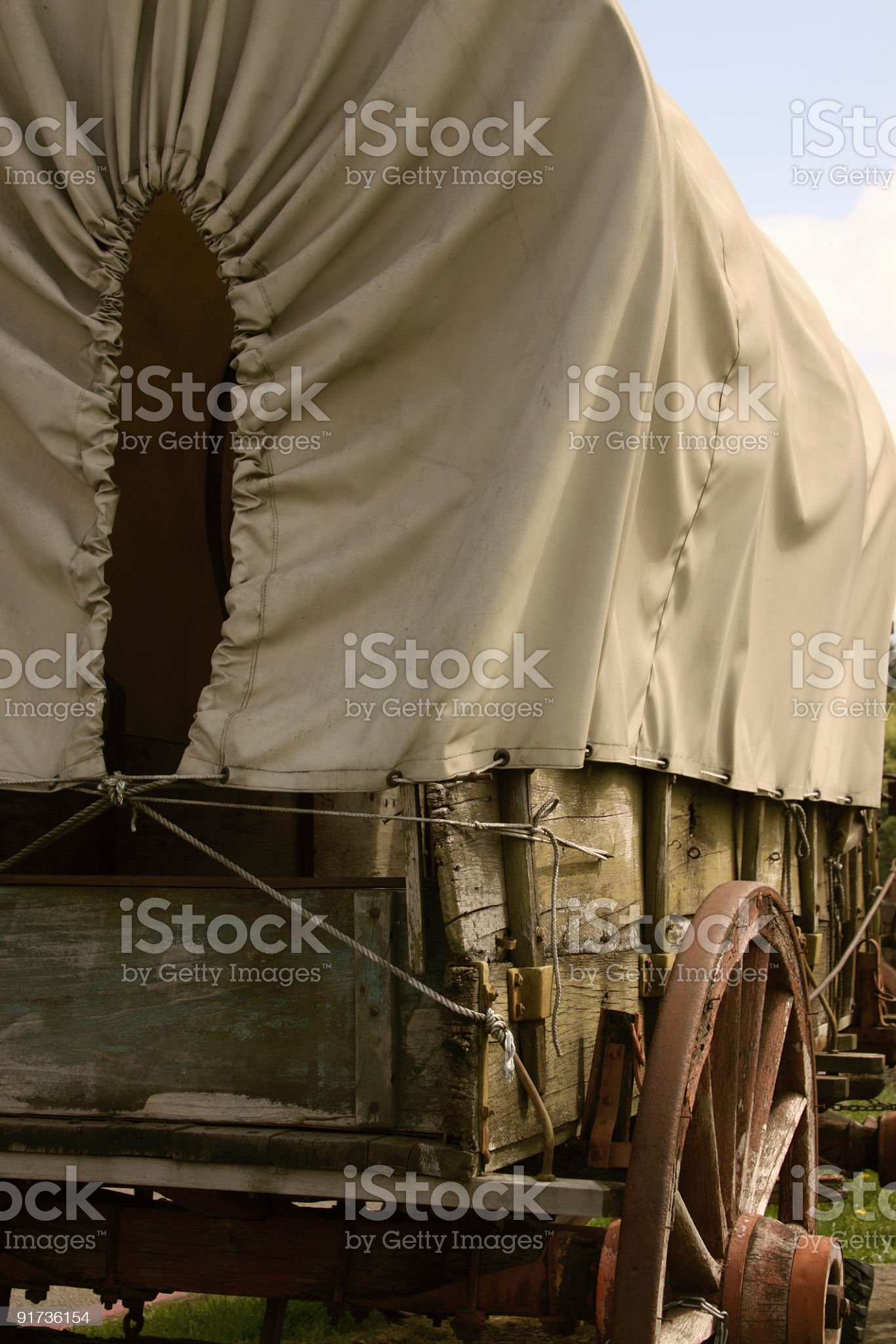 Pioneer covered wagon royalty-free stock photo