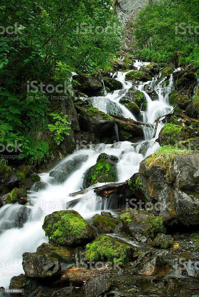 Pioneer Falls, Palmer, Alaska royalty-free stock photo