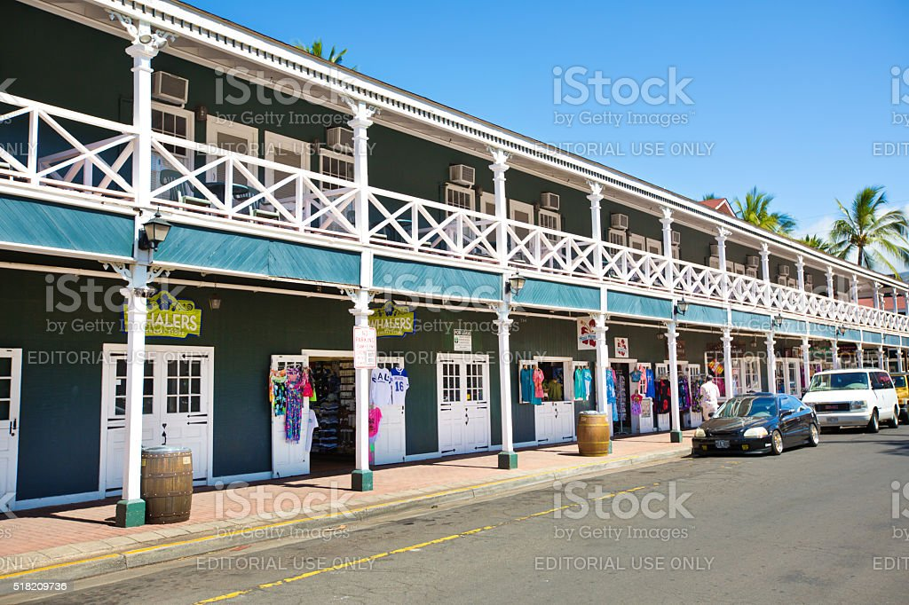 Pioneer Inn Hotel in Lahaina, Maui, USA stock photo