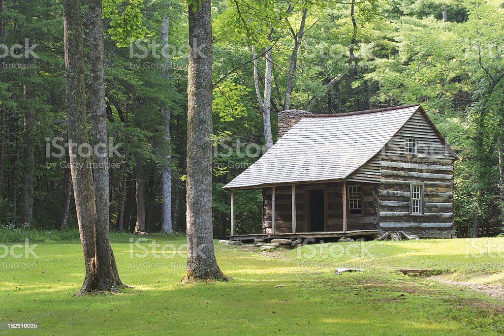 Pioneer Log Cabin in the Smoky Mountains royalty-free stock photo