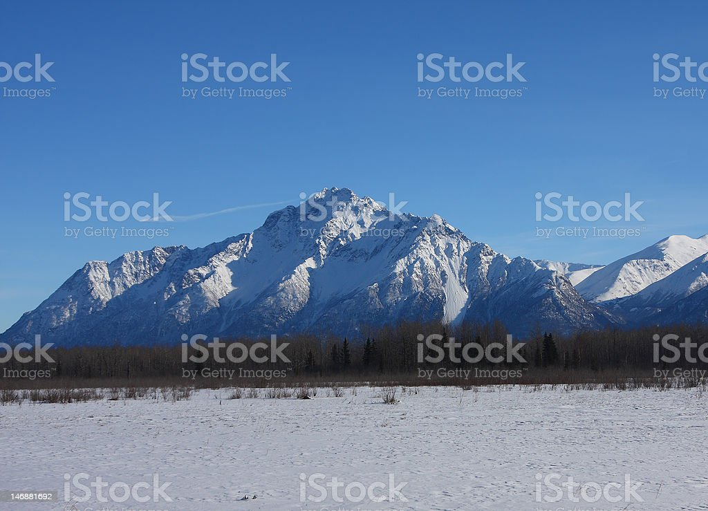 Pioneer Peak stock photo
