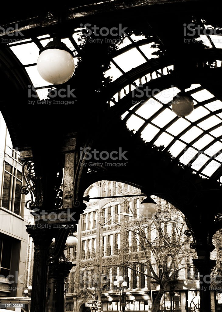 Pioneer Square Pergola in Seattle, WA royalty-free stock photo