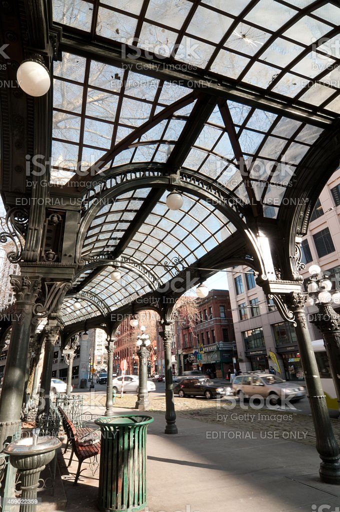 Pioneer Squares Famous Historic Pergola royalty-free stock photo