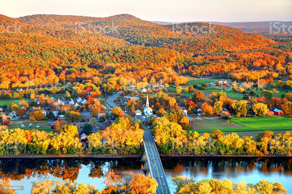 Pioneer Valley in Autumn stock photo