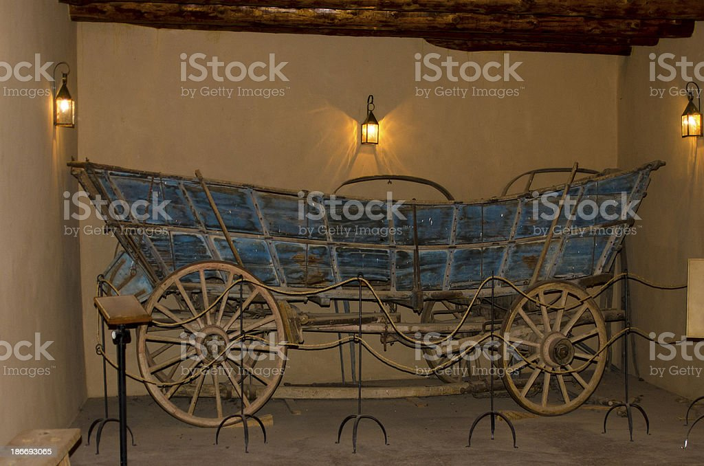 Pioneer Wagon at Bent's Old Fort National Historic Site stock photo