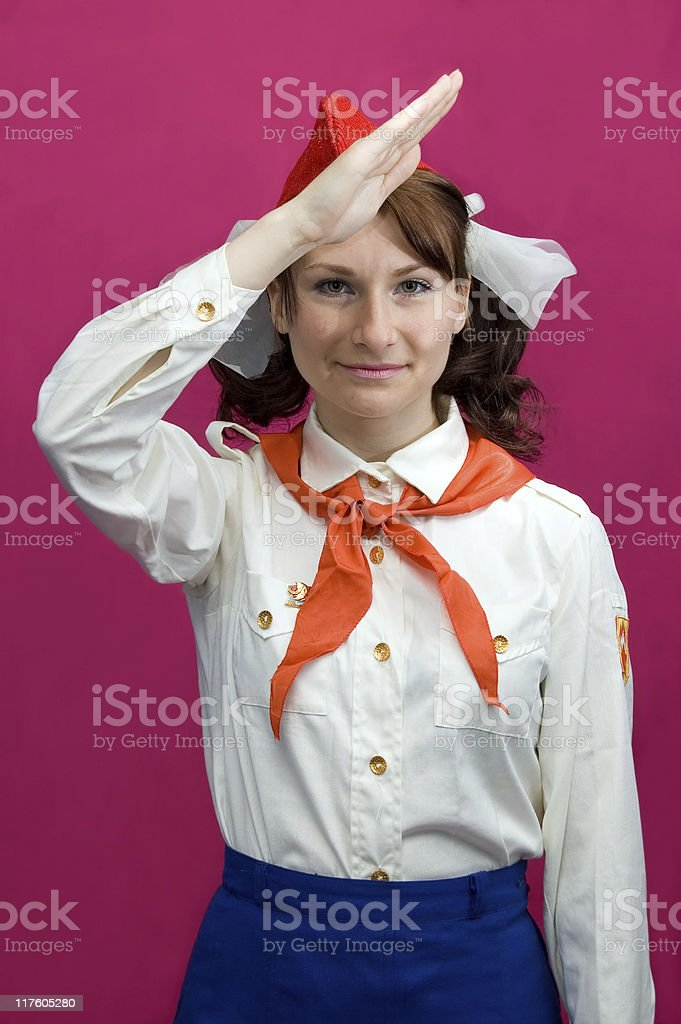Pioneer-girl royalty-free stock photo