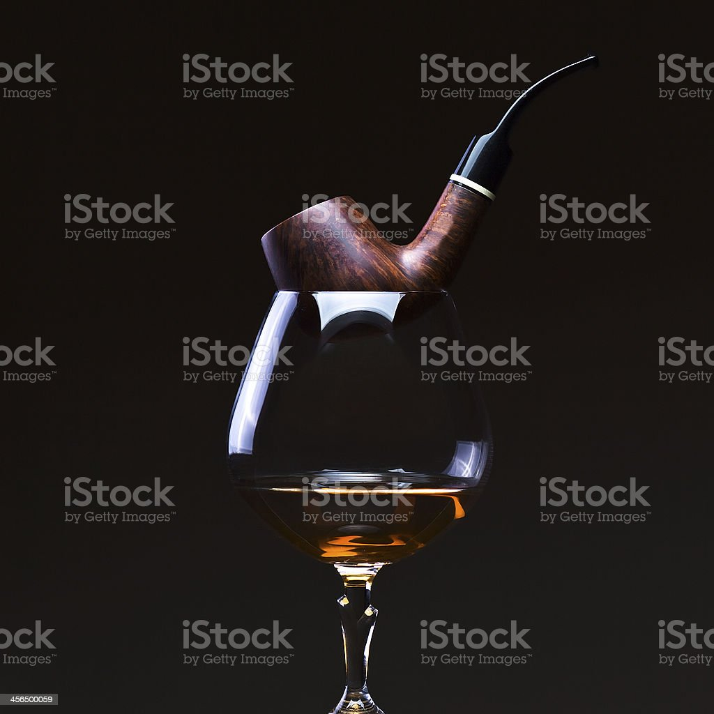 pipe and  brandy royalty-free stock photo