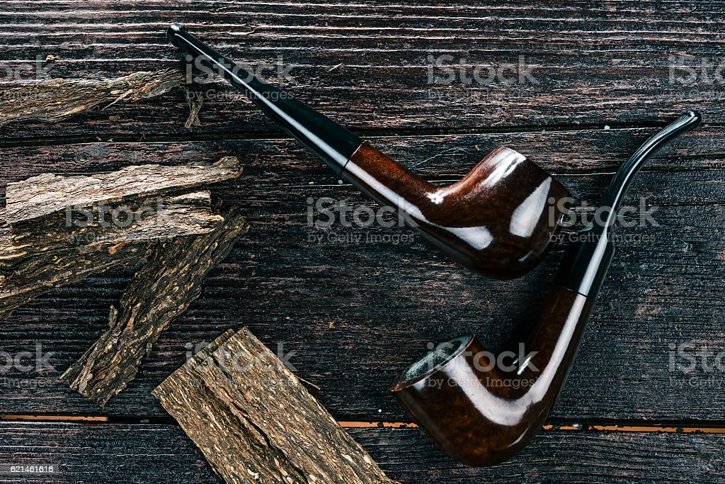 Pipe and flake stock photo
