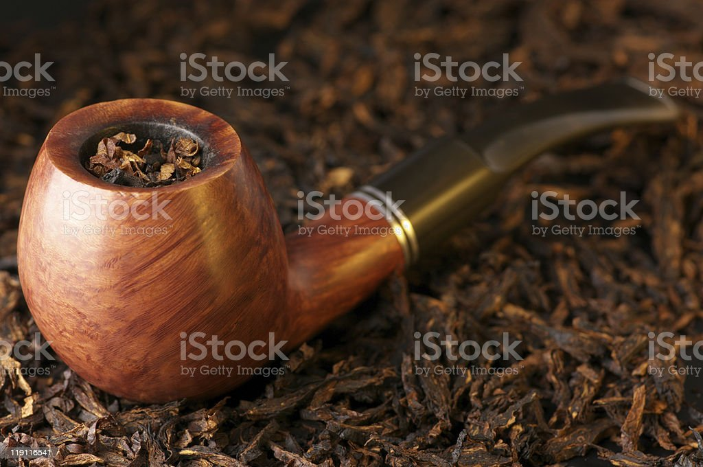 Pipe and tobacco royalty-free stock photo