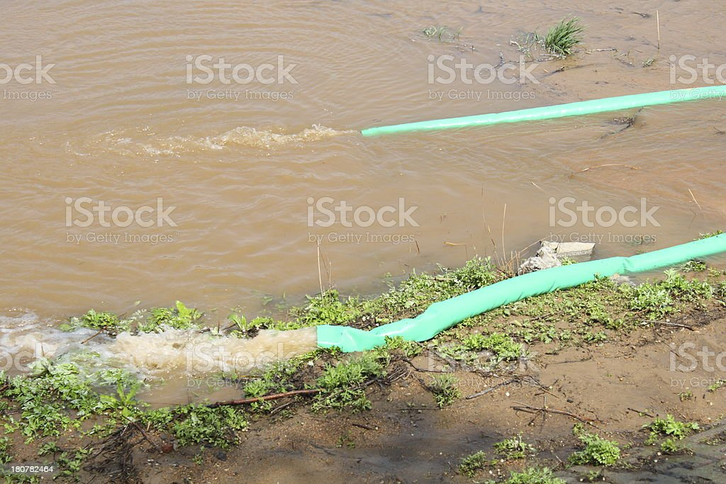 Pipe and water royalty-free stock photo