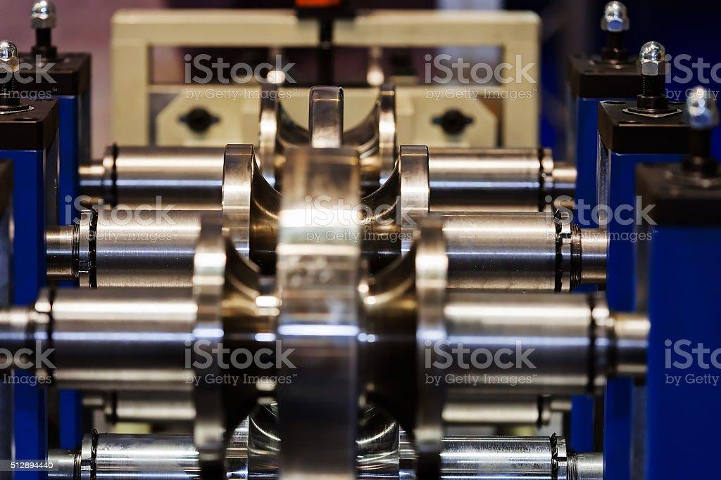 Pipe bending machine stock photo