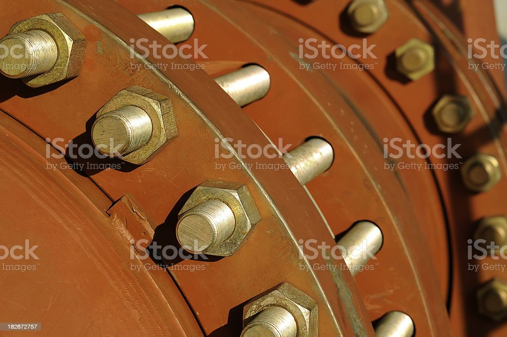 pipe, bolt and nut royalty-free stock photo