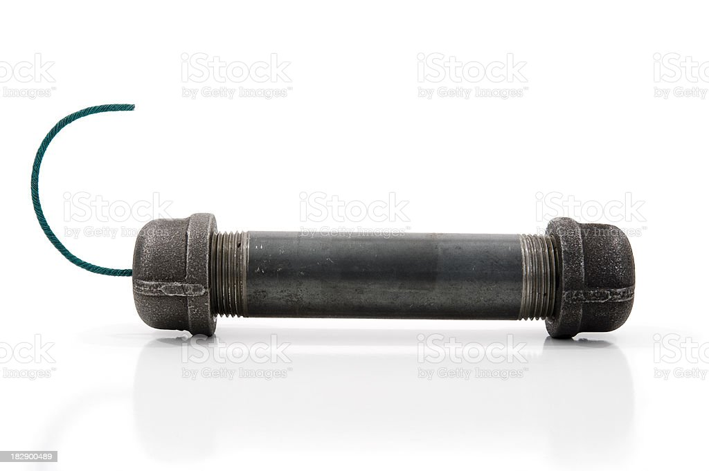 Pipe Bomb on white royalty-free stock photo