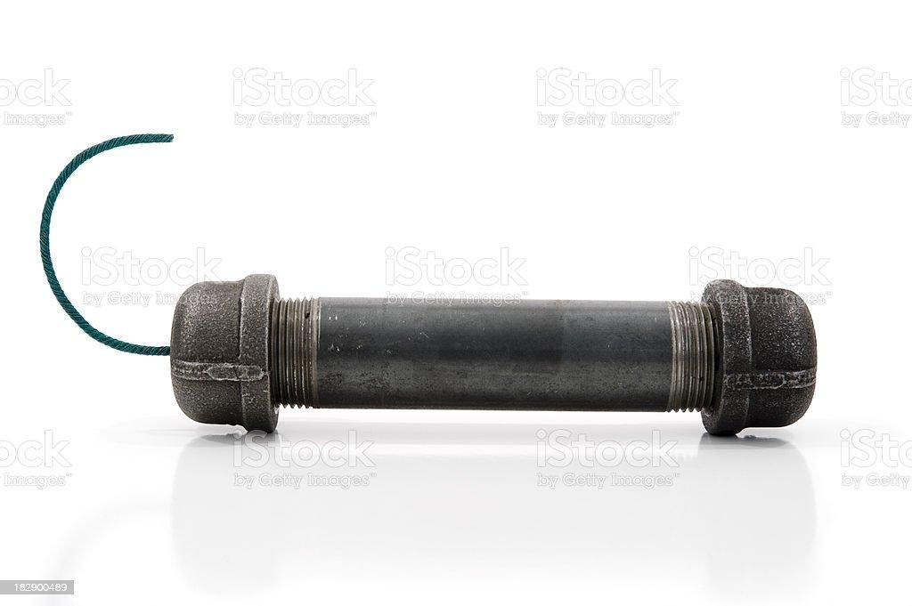Pipe Bomb on white stock photo