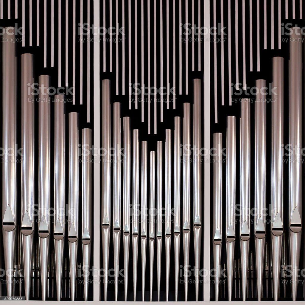Pipe church organ stock photo