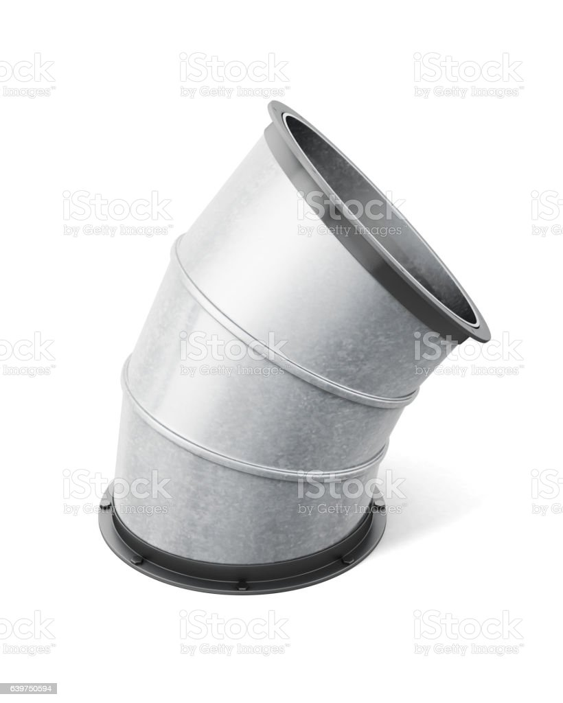 Pipe connector isolated on the white background. 3d rendering stock photo