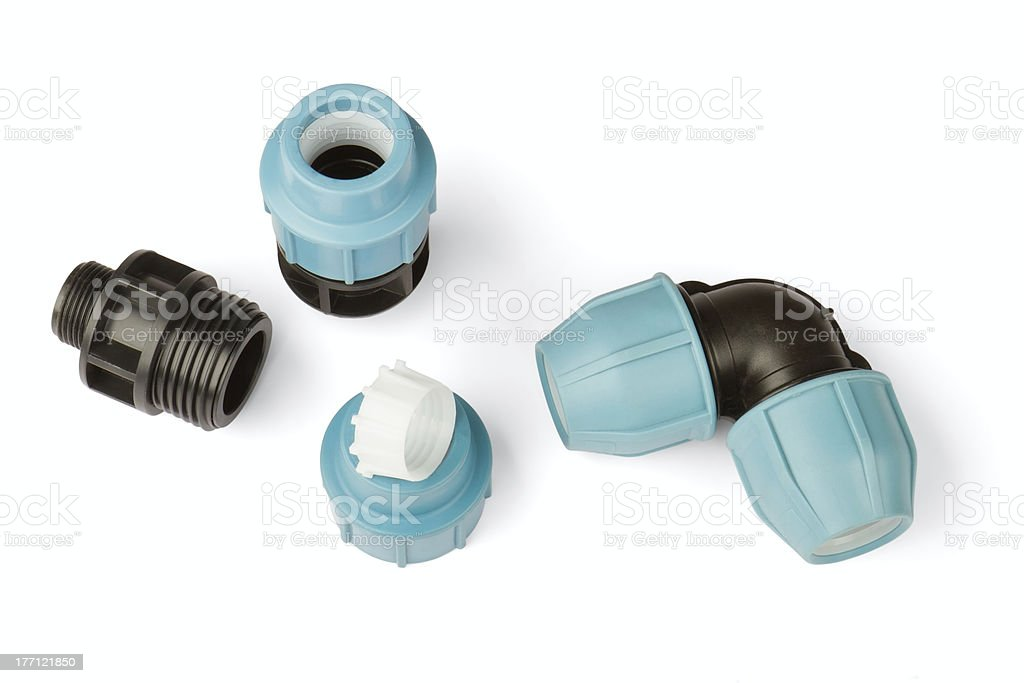 pipe fittings stock photo