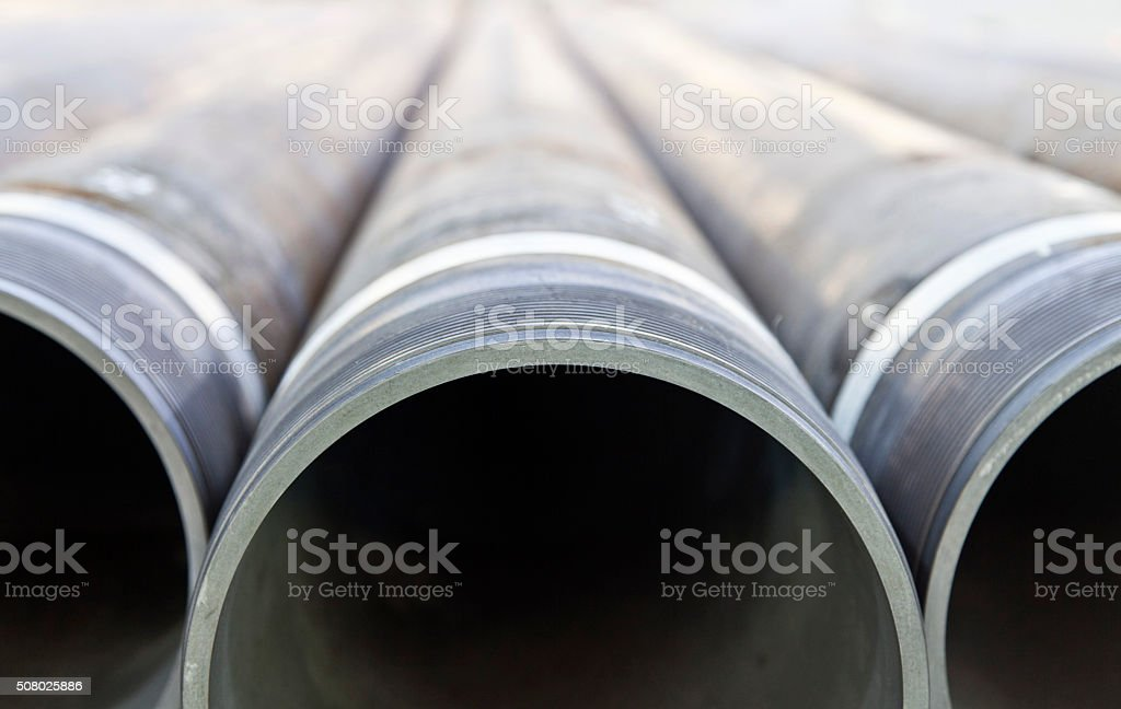 Pipe in a row stock photo