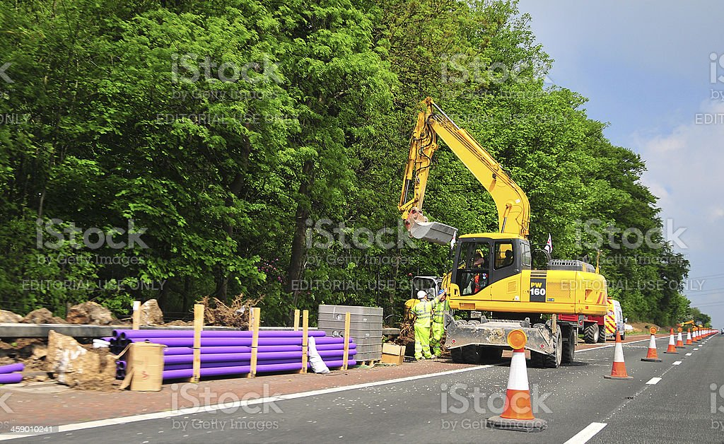 Pipe Laying royalty-free stock photo