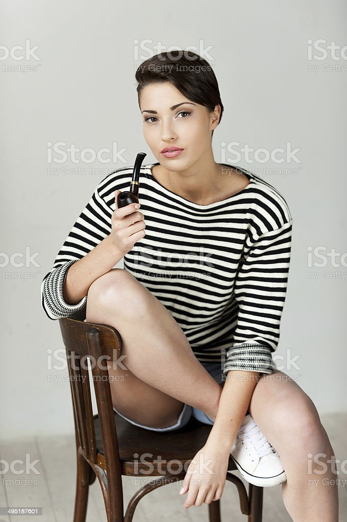 Pipe like a style. stock photo