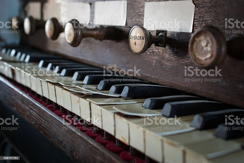 Pipe organ in St George's Church stock photo