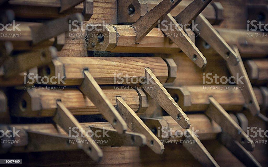 pipe organ inside stock photo