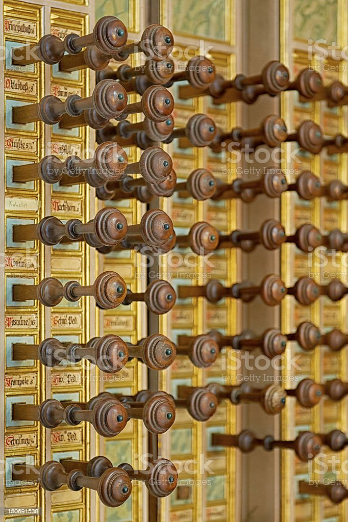 pipe organ keys stock photo