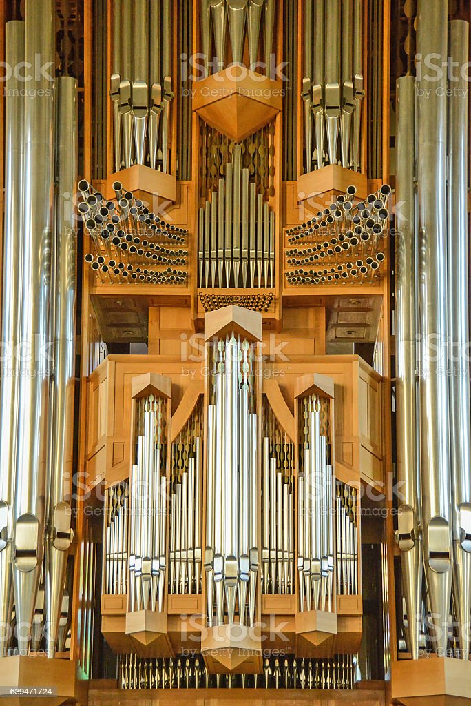 pipe organ - Orgel in Kirche stock photo