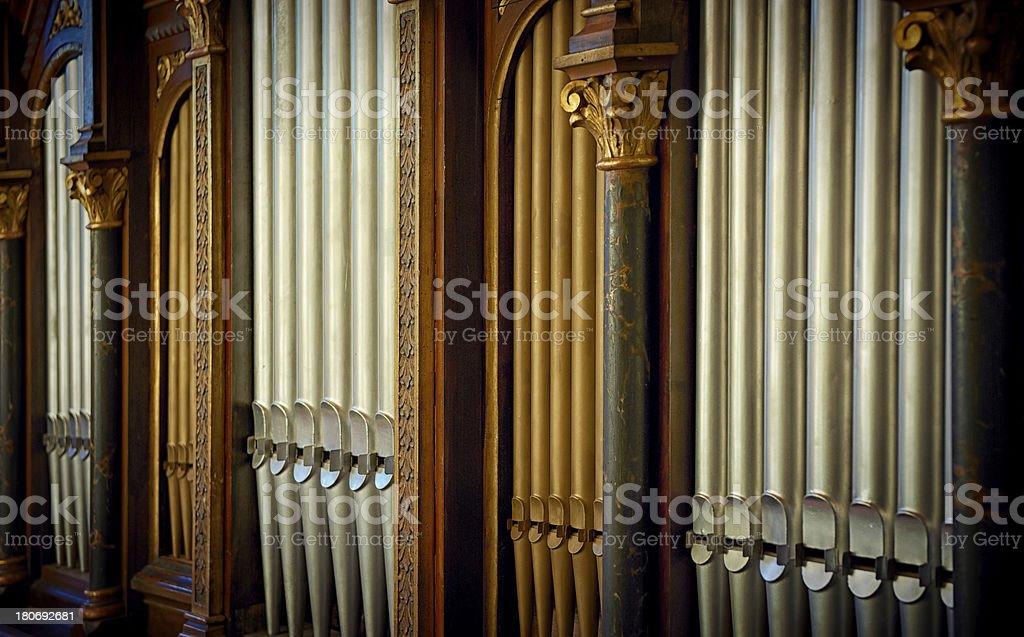 pipe organ stock photo